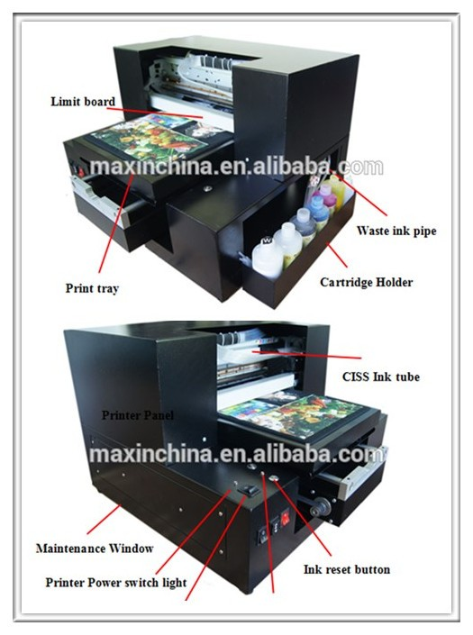 Max printer high quality a3 1390 inkjet t shirt laser for Inkjet t shirt printing