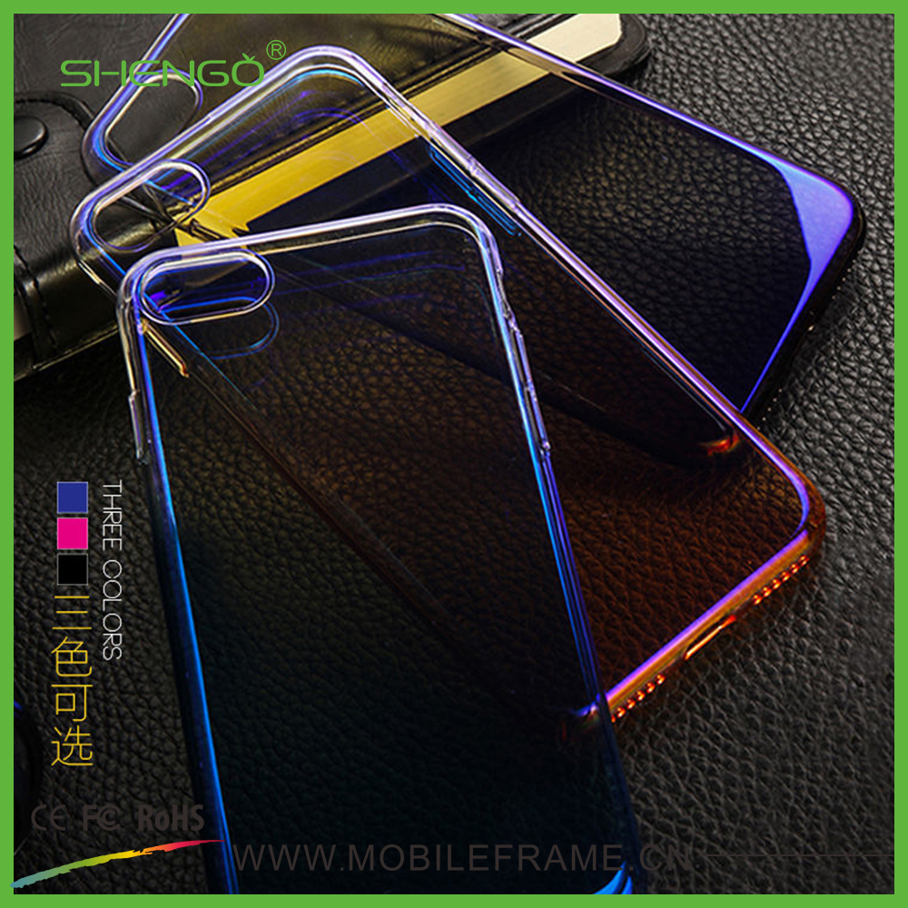 Hot Product Gradient Colorful Hard Phone Shell Luxury Optical Electro-Plated PC Case for iPhone 6