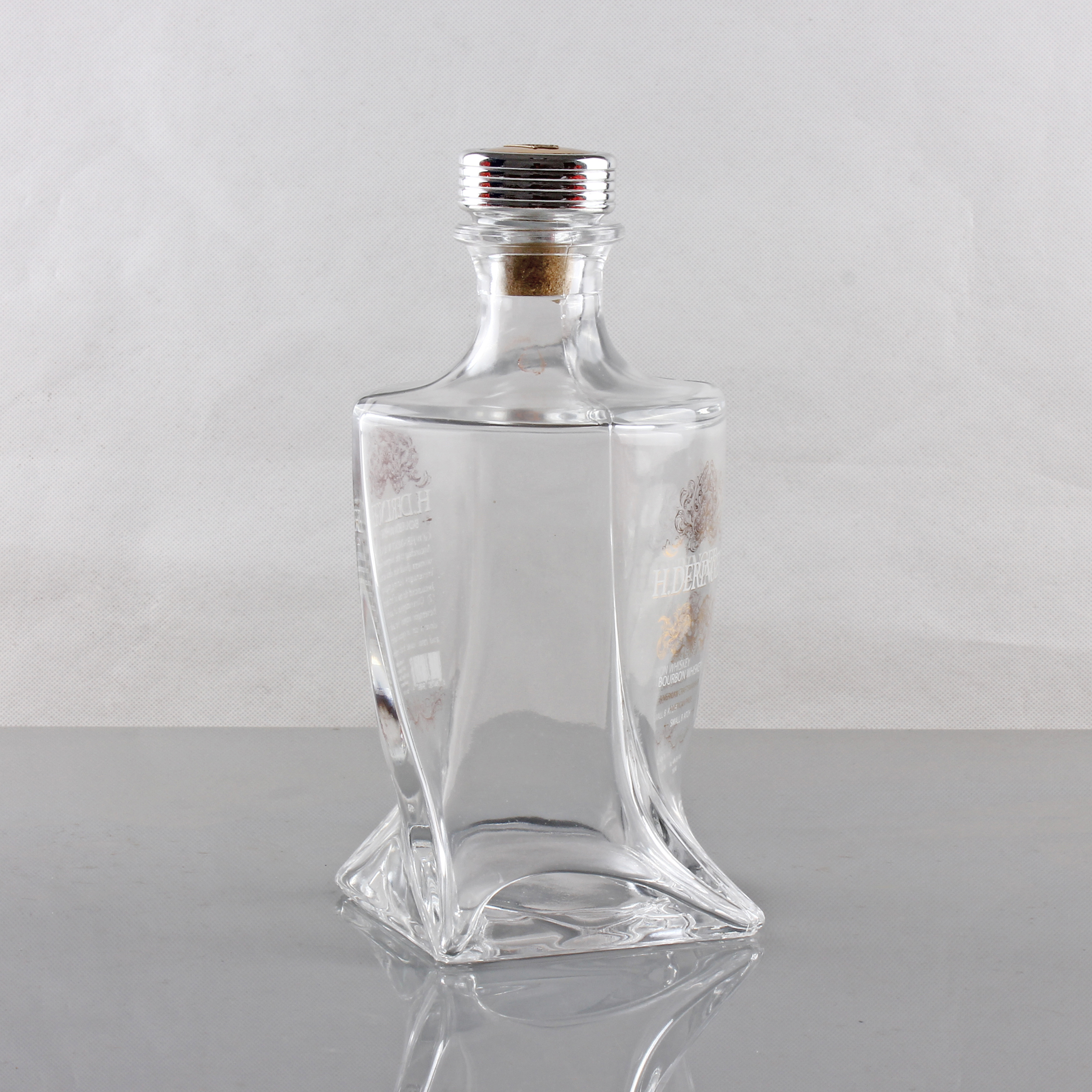 Uísque de 750 ml Flint Glass 750ml venda de garrafas de licor vazio