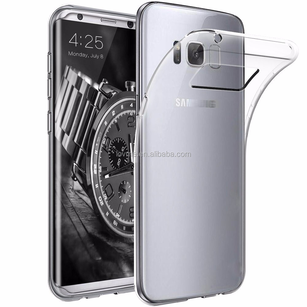 MOQ 50 shockproof clear tpu soft case back cover for galaxy s8,for samsung galaxy s8 case