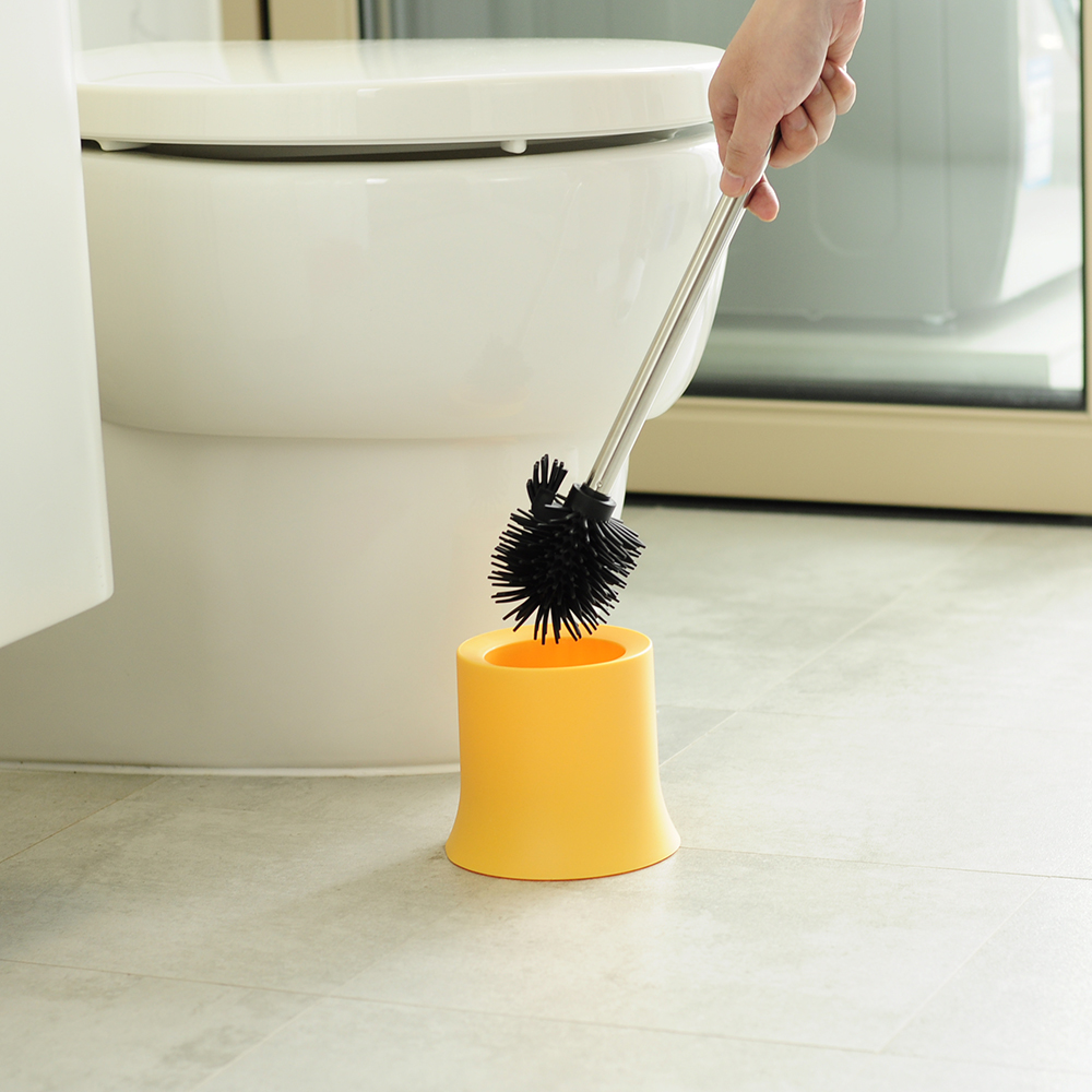 NGY TRP soft easy brush and holder price silicone head plastic cleaning toilet brush