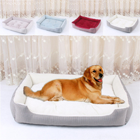 Manufacturer wholesale small large multi-color pet accessory soft dog sofa bed