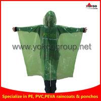 PE rain coat waterproof, waterproof rain poncho