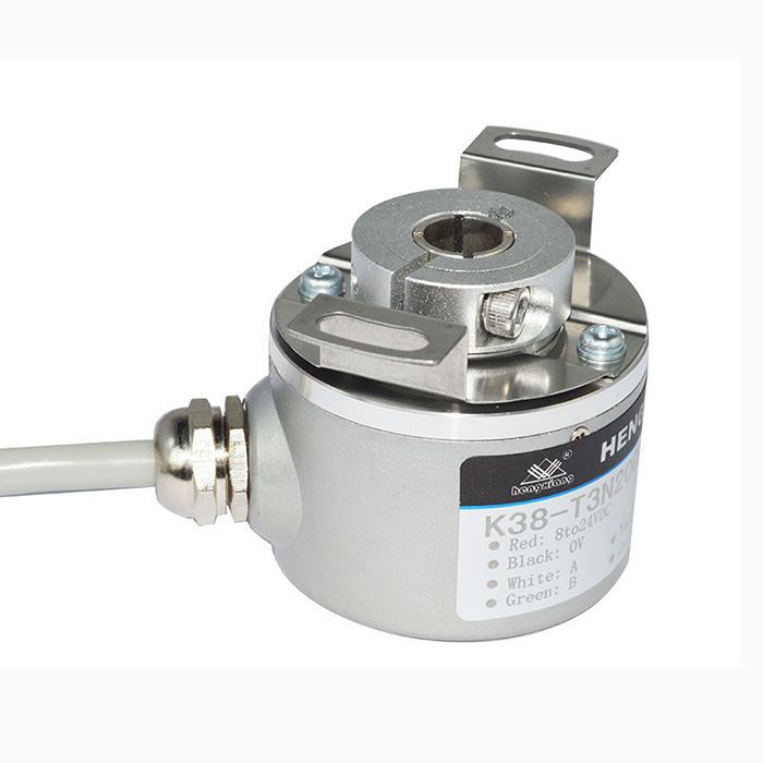 Cheap price K38 Hollow Shaft 10mm 1000 pulse per resolution NPN OC output <strong>rotary</strong> <strong>encoder</strong> in stock