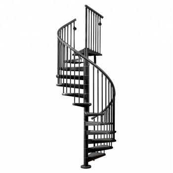 Etonnant Aluminum Spiral Staircase With Checkered Plate Or Diamond Plate Tread