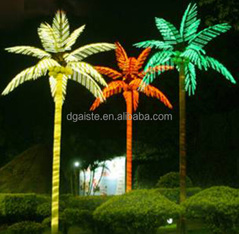 Home garden decorative 750cm height outdoor artificial green home garden decorative 750cm height outdoor artificial green flashing led solar lighted up coconut palm trees mozeypictures Images