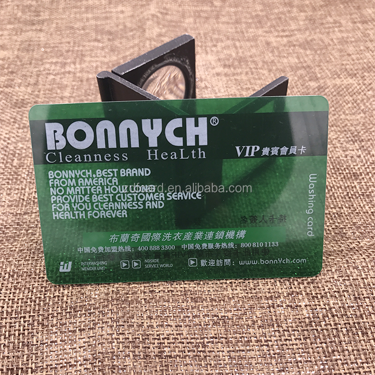 Direct factory Wholesales price plastic transparent business card