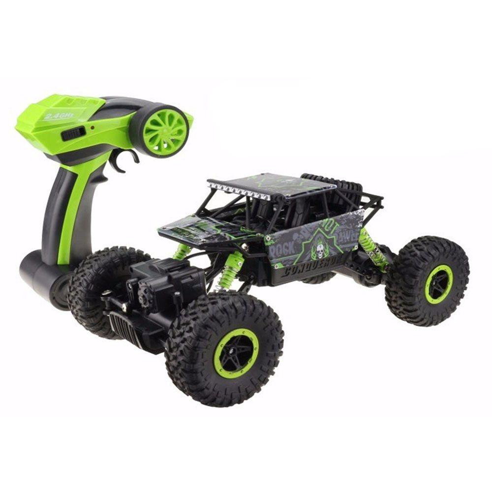 TonTech Rock Crawler RC Off Road Vehicle 2.4Ghz Remote Control 4x4 Driving Fast Race Car High Speed Dune Buggy Grass Sand Land Green