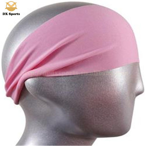 Wholesale cotton custom logo running headbands for women, non slip headband