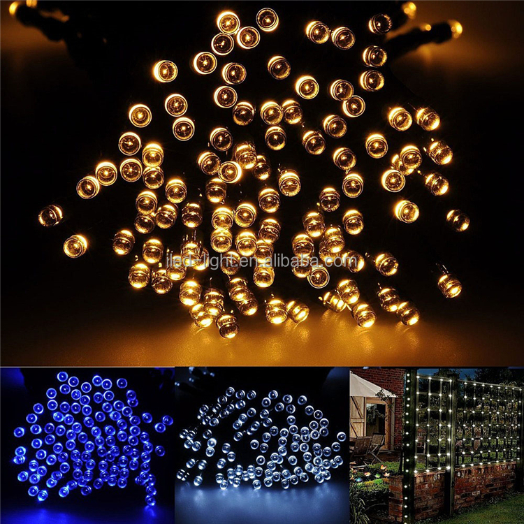 Holiday Lighting Lamp Christmas Tree 22m 200 LED Solar Sunflower Garden Light Color Changing String Lights