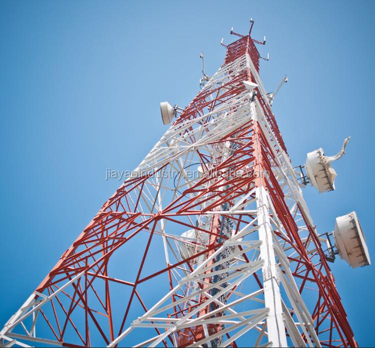 Medidor de 45 4 patas auto apoio à comunicação de microondas 4 celular g 5g antena signal isp internet serviço de torre de mastro
