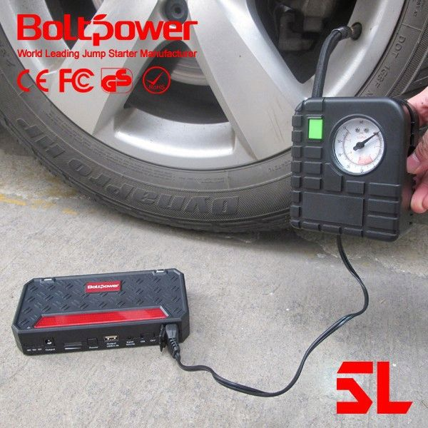 All in one Boltpower G06A new emergency car portable battery jump starter with car charger epower with portable air pump tire