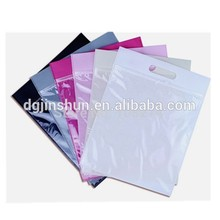 Wholesale die cut shopping plastic packing bag with zipper