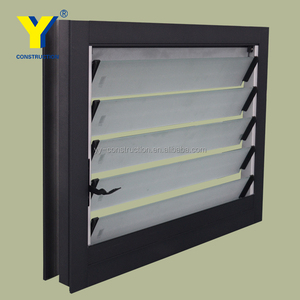 Aluminum adjustable windows with glass shutters, louvre manufacture, AS/NZS2047 AS/NZS2208 & AS/NZS1288