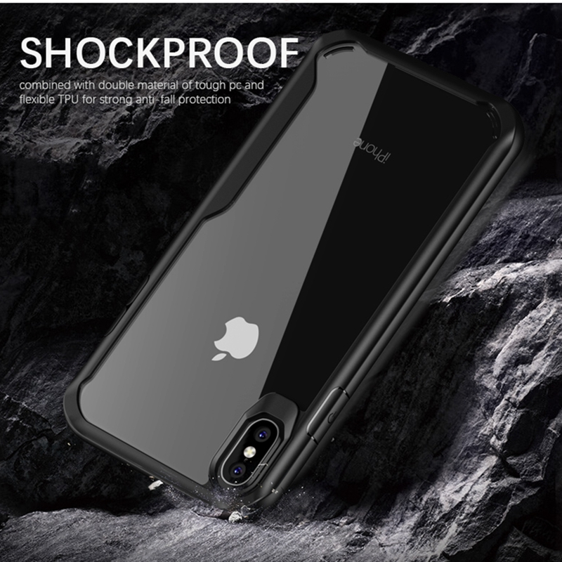 Transparent Soft Silicone TPU Anti-knock Clear Back Cover Mobile Phone Cases For iPhone Xs Xr Xs Max