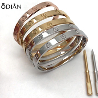316 stainless steel screwdriver love bangle fashion Evil Eye Bracelet For Women Men Wholesale jewelry