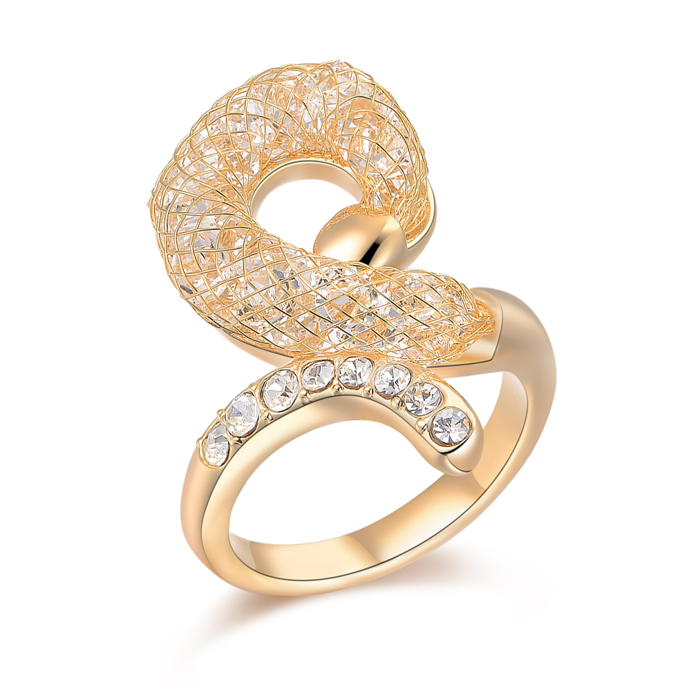 Cheap Price Women Jewelry Mesh Crystal Gold Ring Name Designs, View ...