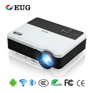 Wireless screen mirroring 3600 Lumens home android led projector