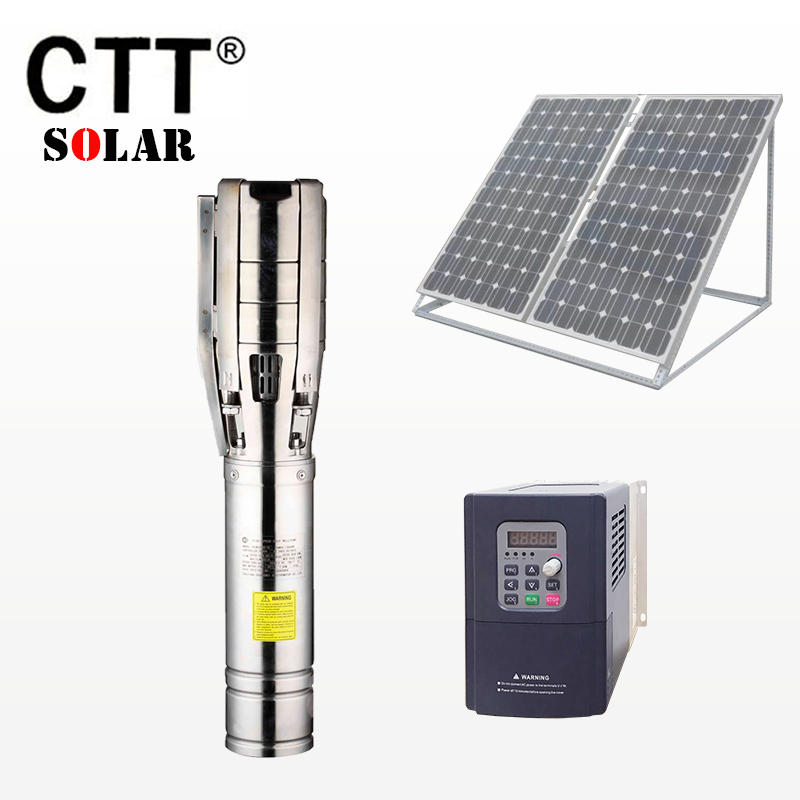 solar water pump 7.5 kw 6 inches to solar submersible pump for lifting and water well