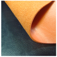 Newest pu flocked backing pu rexine leather for shoes