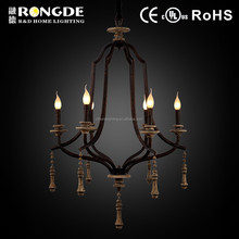 2015 new products rustic wood chandelier in antique greyish coffee color