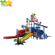 Swimming pool slide park fiberglass slide water slides for kids