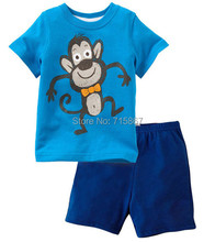 New fashion Brand Children clothing set newborn summer baby boy clothes sets  t-shirt+pants suit baby wear kids clothes