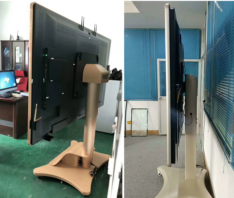 stock! 86 inch floor stand Windows touch screen display built-in speaker/camera all in one pc for meeting room with wheels move