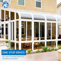 outdoor solarium glass porch enclosure windows solarium house aluminum alloy glass sun room