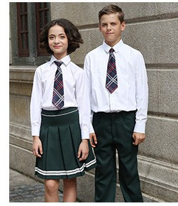 White School Uniform Polo Shirts Design