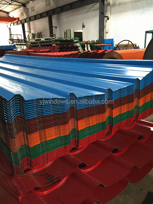 Corrugated Glazed Tile Curved Steel Sheet Galvanized Metal Roofing