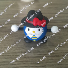 Pretty design custom made plastic miniature hellokitty action figure/OEM factory