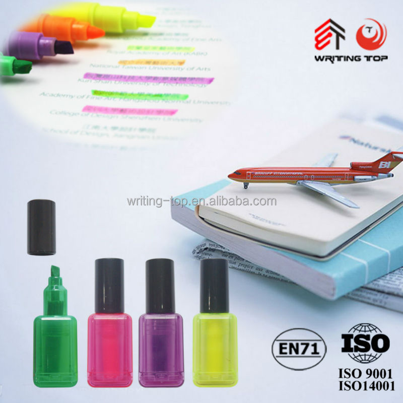2016 nail polish shaped pen for promotional