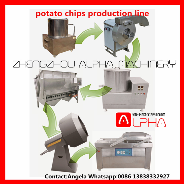 potato flakes machinery/ industrial potato chips product line