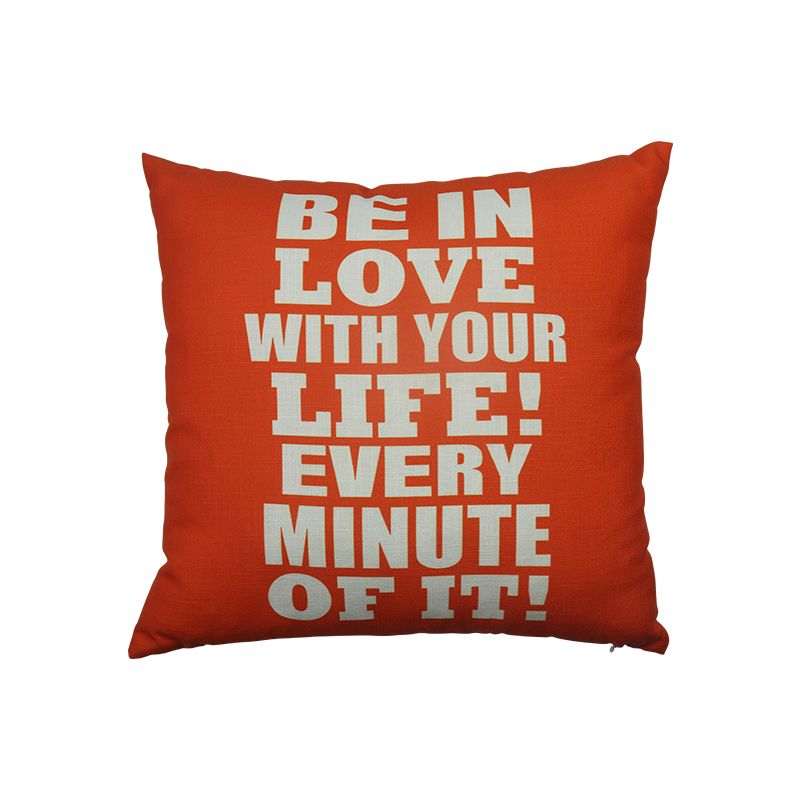 Hot selling amazon printed custom alphabet pillow cover for home