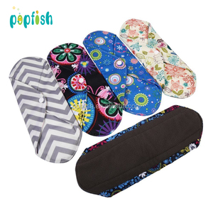 Women Menstrual Reusable Bamboo Cloth Sanitary Napkin Pads Washable