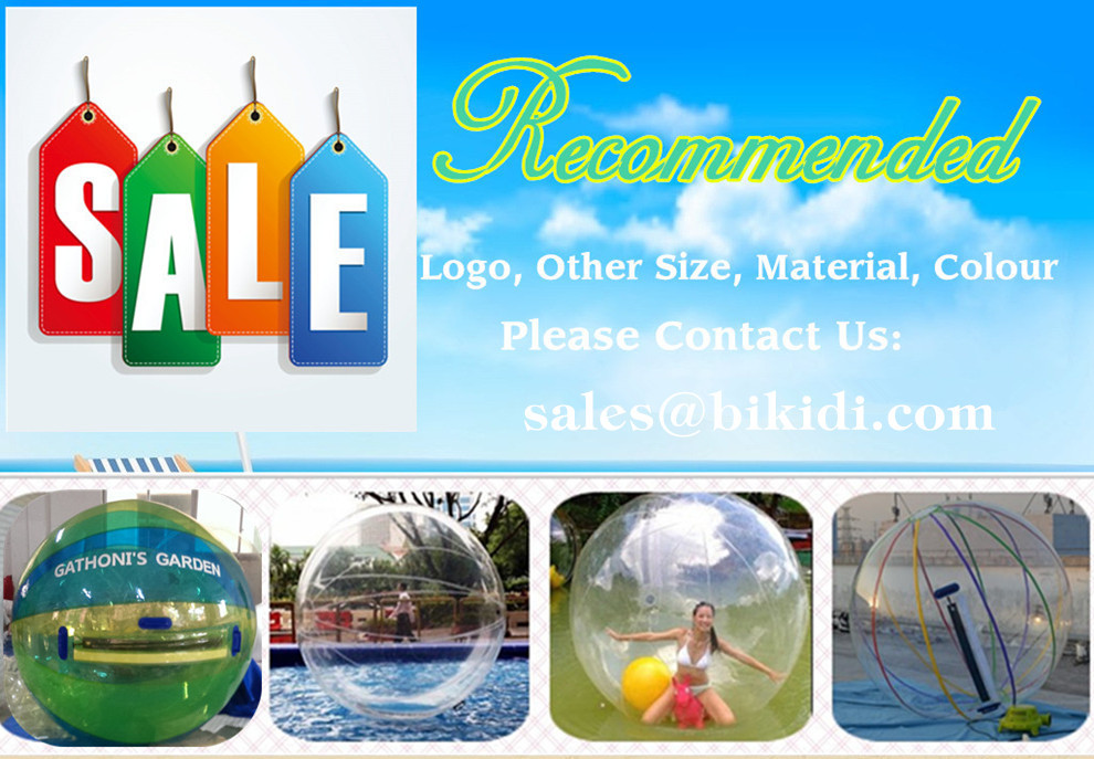 Inflatable water polo ball, aqua zorbing ball D1003-9B