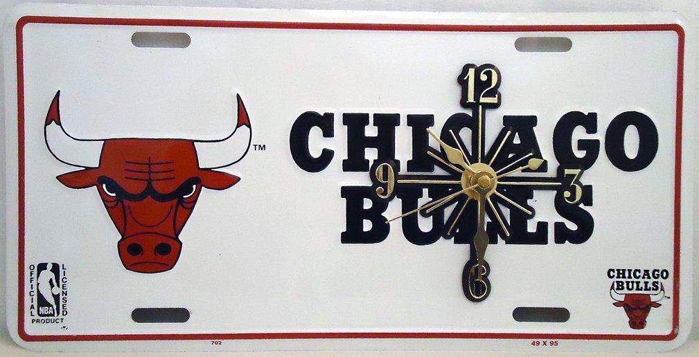 1 , Basketball Quartz Clock, on a, Chicago Bulls, Metal Sign,,4A1.2