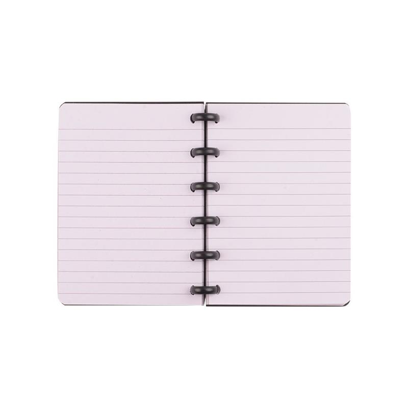 Recycled 6 holes ring binder plastic cover disc bound cheap bulk notebooks