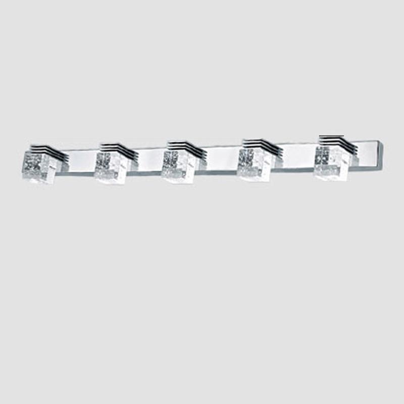 Hot 85 265v 15w 70cm Led Mirror Lamp 5 Head Crystal Bathroom Wall