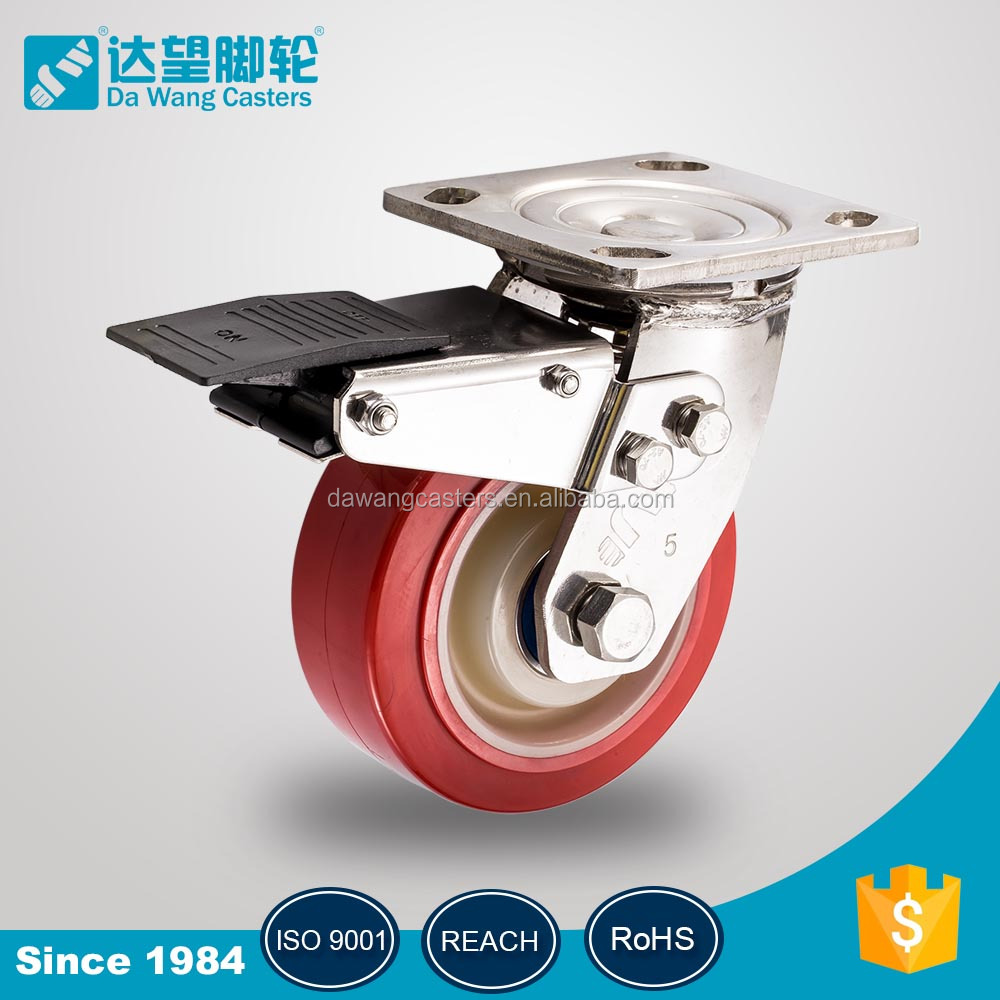 150mm 200mm rigid plate Solid Rubber Wheels Suppliers For Sale caster wheel