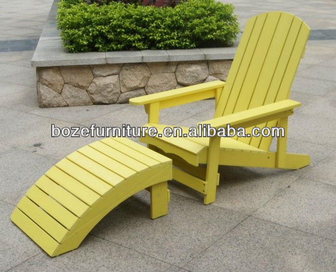 Outdoor kunststof houten stoel tuinmeubelen adirondack stoel