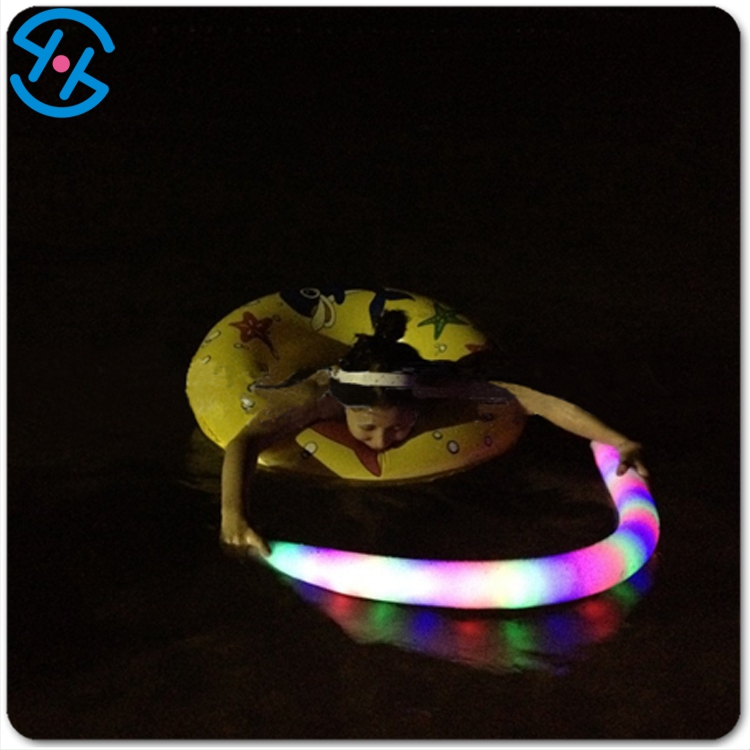 Eco-friendly EVA material LED light up Swimming Float bar/Pool Noodle