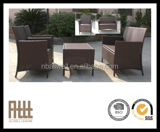 New design outdoor tables oval rattan patio sofa AWRF5135B