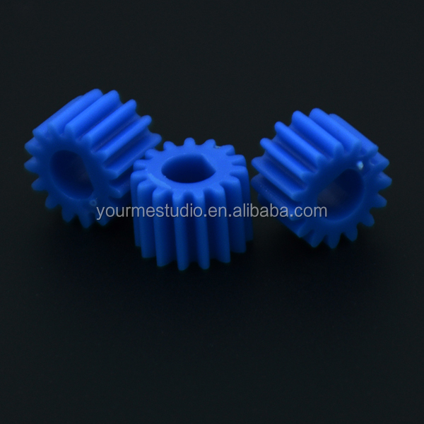 D type hole model toy accessories 0.5 modulus 15T plastic spindle gear