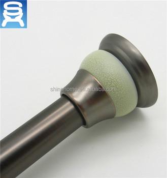 Bronze Shower Curtain Rod.Round Head Band Edge Green Bronze Shower Curtain Rod Pole Buy Bronze Curtain Rod Shower Curtain Pole Shower Rod Product On Alibaba Com