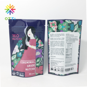 private label Japanese green tea packaging ceremonial matcha bag