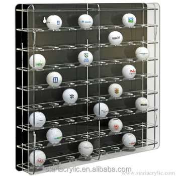 Crystal Clear Self Assembly Acrylic Golf Ball Display Cabinet ShowCase Box