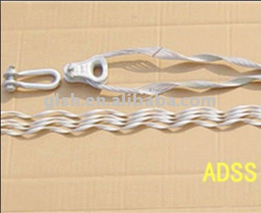 ADSS cable's aluminum clad steel wire tension clamp