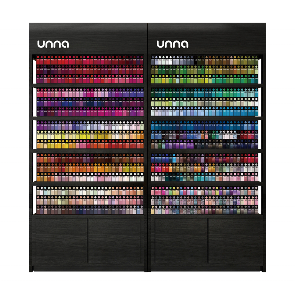 UNNA 900 Colors Nail Gel Polish set with free color chart
